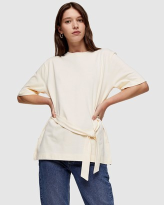 Topshop Organic Cotton Belted Top