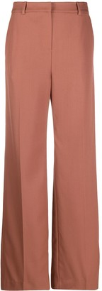 Yves Salomon High-Waisted Flared Trousers