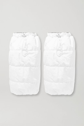 Cordova Gstaad Quilted Padded Gaiters - White
