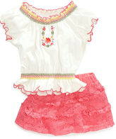 Nannette Baby Set, Baby Girls Two-Piece Top and Scooter Skirt