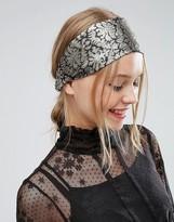 Asos Metallic Brocade Headband