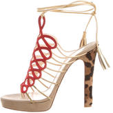 Christian Louboutin Lace-Up Cage Sandals