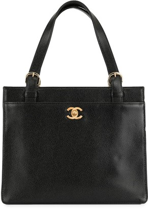 Chanel Pre-Owned 1998 CC turn-lock tote