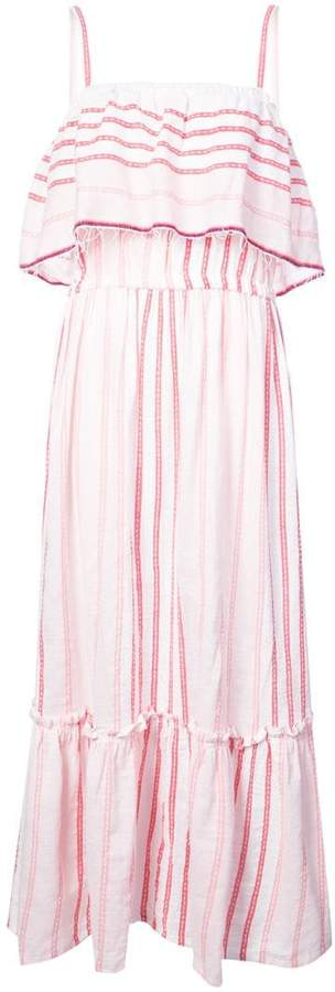 Lemlem striped ruffled front dress