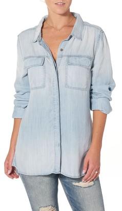 Silver Jeans Women's Utility Longsleeve Denim Shirt