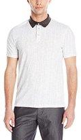 Calvin Klein Jeans Men's Slub Jersey Digit Polo Shirt