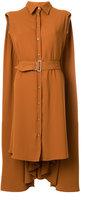 MM6 MAISON MARGIELA belted cape shirt dress - women - Polyester - 44