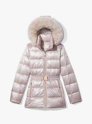 Michael Kors Belted Puffer Coat