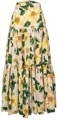 Dolce & Gabbana Floral cotton poplin maxi skirt