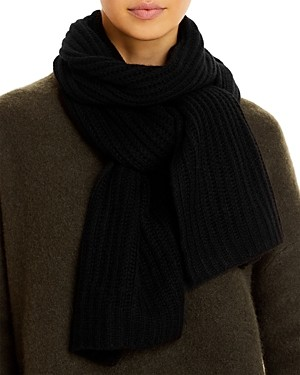 C by Bloomingdale's Solid Ribbed Cashmere Scarf - 100% Exclusive