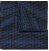 Oliver Spencer Cromer Cotton-jacquard Pocket Square