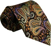 Shlax & Wing Shlax&Wing Multi-colored Paisley Men's Necktie Tie 100% Silk Wedding Extra Long