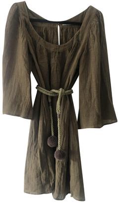 Three Graces London Khaki Linen Dresses