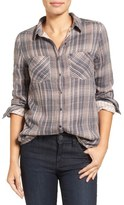 Caslon Classic Plaid Shirt (Regular & Petite)