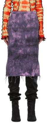 Marques Almeida Purple Tie-Dye Pencil Skirt