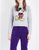 Marc Jacobs Ladies Sequin Casual Mickey Mouse Sequinned Cotton-Jersey Sweatshirt
