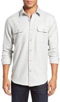 James Campbell Zigzag Woven Sport Shirt