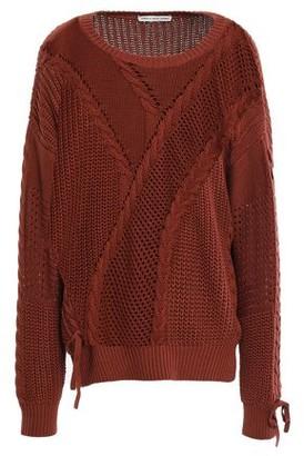 Autumn Cashmere Cotton By Lace-up Cable-knit Cotton Sweater