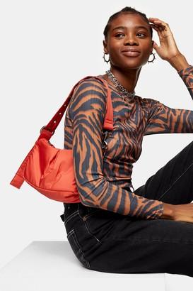 Topshop SIA Rust Nylon Shoulder Bag
