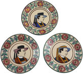 One Kings Lane Vintage French Faience Quimper Plates, S/3
