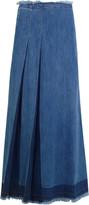 See by Chloe Pleated denim maxi skirt