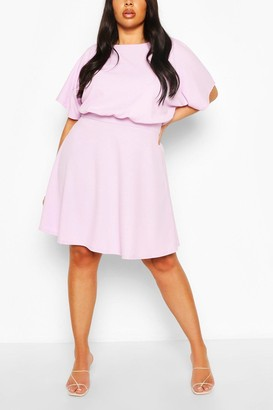 boohoo Plus Blouson Skater Dress