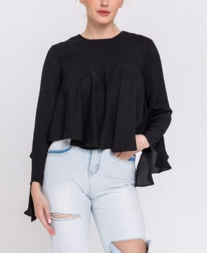 Endless Rose Long Sleeve Ruffled Top