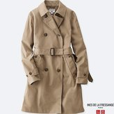 Uniqlo Women's Idlf Cotton Twill Trench Coat
