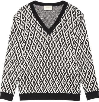 Gucci jacquard G motif knit jumper