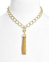 BaubleBar Link Tassel Pendant Necklace, 16