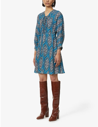 Sandro Kael patterned mini dress