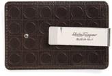 Salvatore Ferragamo Men's 'Gamma Soft' Money Clip Card Case - Brown