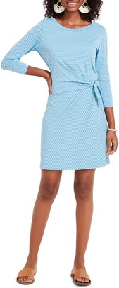 Vineyard Vines Sankaty Stripe Side Tie Dress