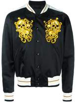Alexander McQueen skull embroidered bomber jacket