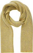 Jigsaw Oban Two Colour Knit Scarf, Yellow/Grey