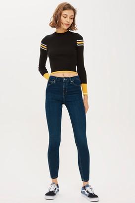 Topshop Womens Indigo Jamie Skinny Jeans - Indigo