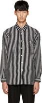 TOMORROWLAND Grey Flannel Striped Shirt