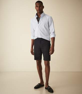 Reiss Cash - Linen Blend Tailored Shorts in Navy