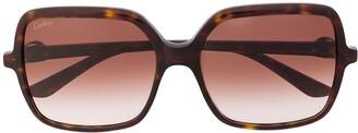 Cartier C Decor square-frame sunglasses