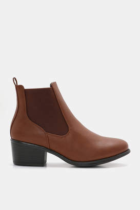 Ardene Faux Leather Chelsea Booties - Shoes |