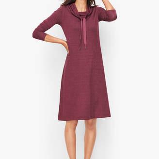 Talbots Soft Terry Cowlneck Dress