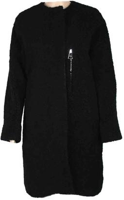 Balenciaga Black Shearling Coat for Women