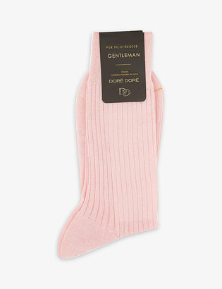 Dore Dore Ribbed cotton-knit socks