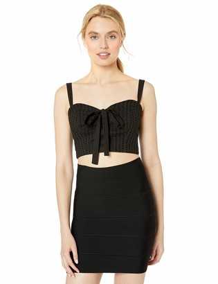 BCBGMAXAZRIA Women's Lace-Up Bustier Cropped Top