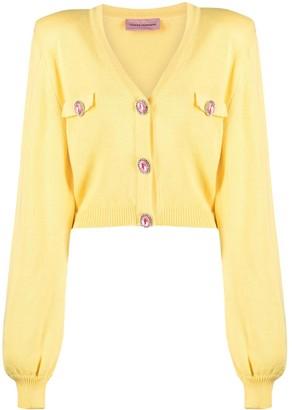 Chiara Ferragni 80's knitted V-neck cardigan
