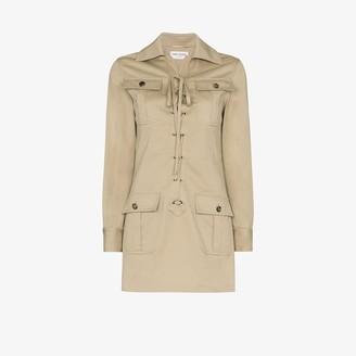 Saint Laurent Lace-Up Detail Shirt Dress