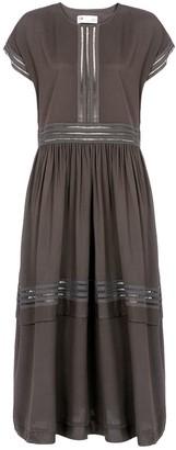 Naftul Eyelet Trim Kimono Sleeve Maxi Dress