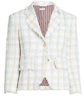Thom Browne Women's Unconstructed Tweed Blazer