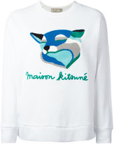 MAISON KITSUNÉ Fox Ines sweatshirt - women - Cotton - XS