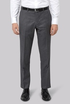 Moss Bros Tailored Fit Charcoal Textured Pants
